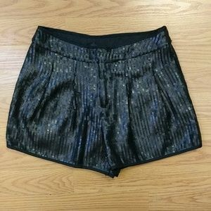[Ark & Co] Cute Black Sequin Puffed Shorts